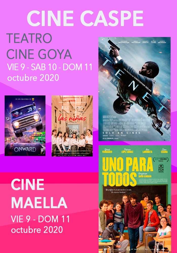 Cine Caspe y Maella del 9 al 11 de octubre