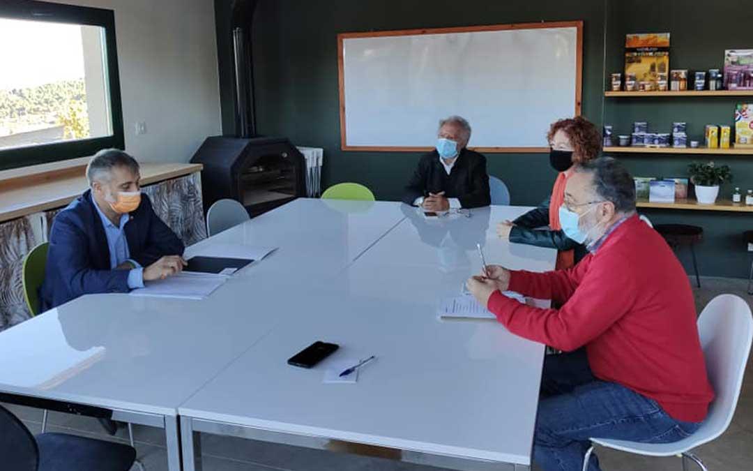 Ramiro Domínguez, de Ciudadanos, se reunió el domingo con los empresarios.