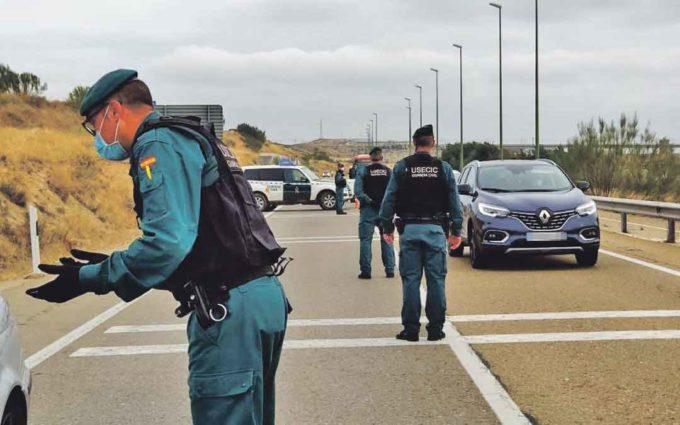 Más de 18 controles para entrar y salir de Zaragoza