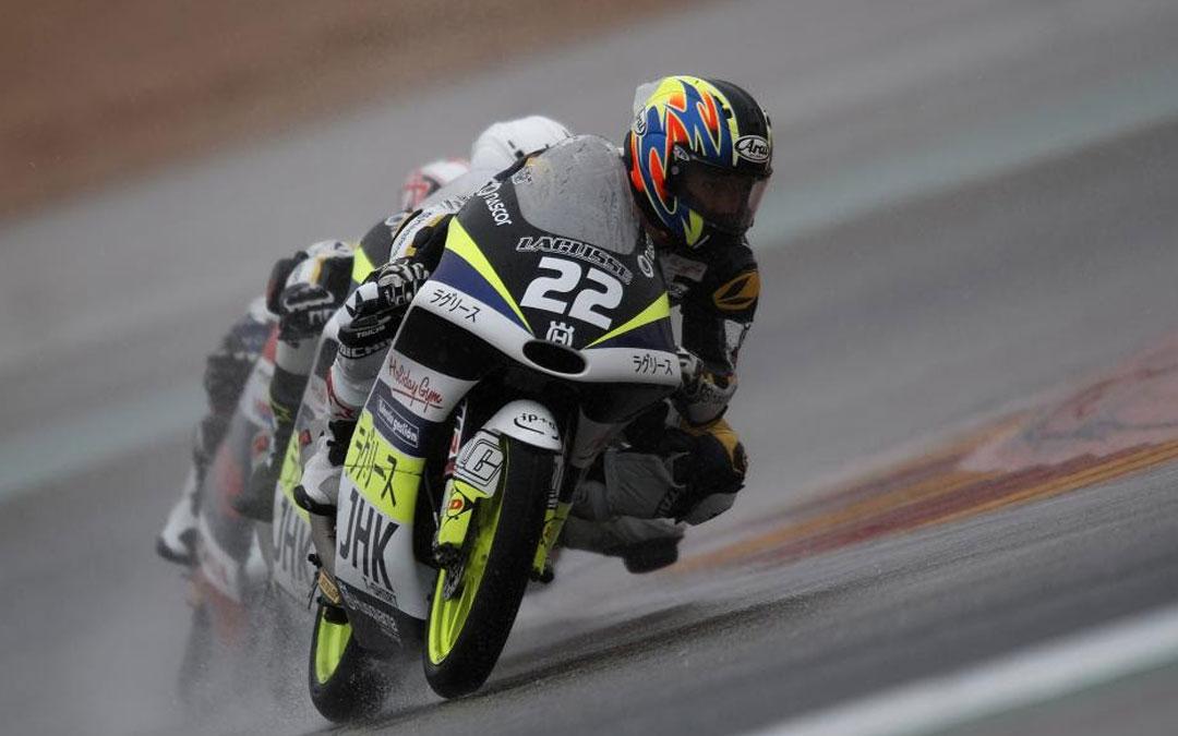 Entrenamientos de Moto3 marcados por la lluvia en el trazado de Motorland Aragón