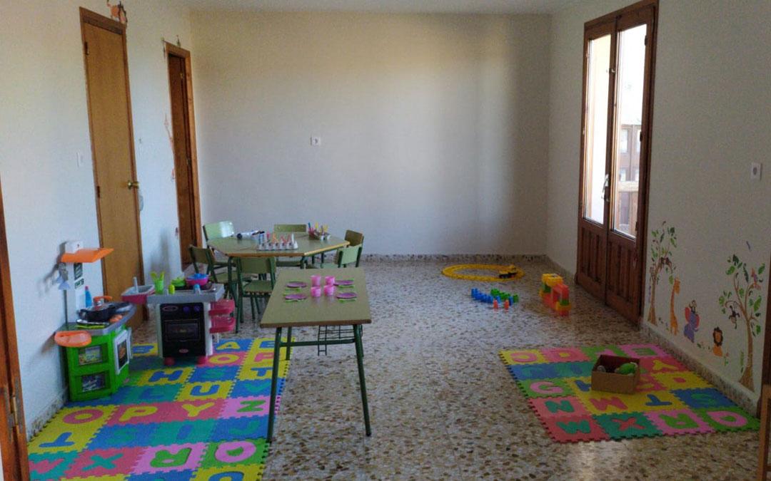 Interior de la nueva escuela infantil de Peñarroya de Tastavins
