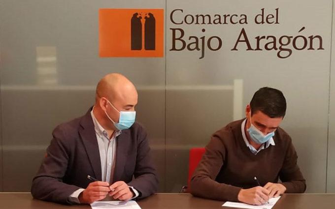 La Comarca del Bajo Aragón firma convenios con la Ruta del Tambor y Bombo y el Parque Cultural del Maestrazgo