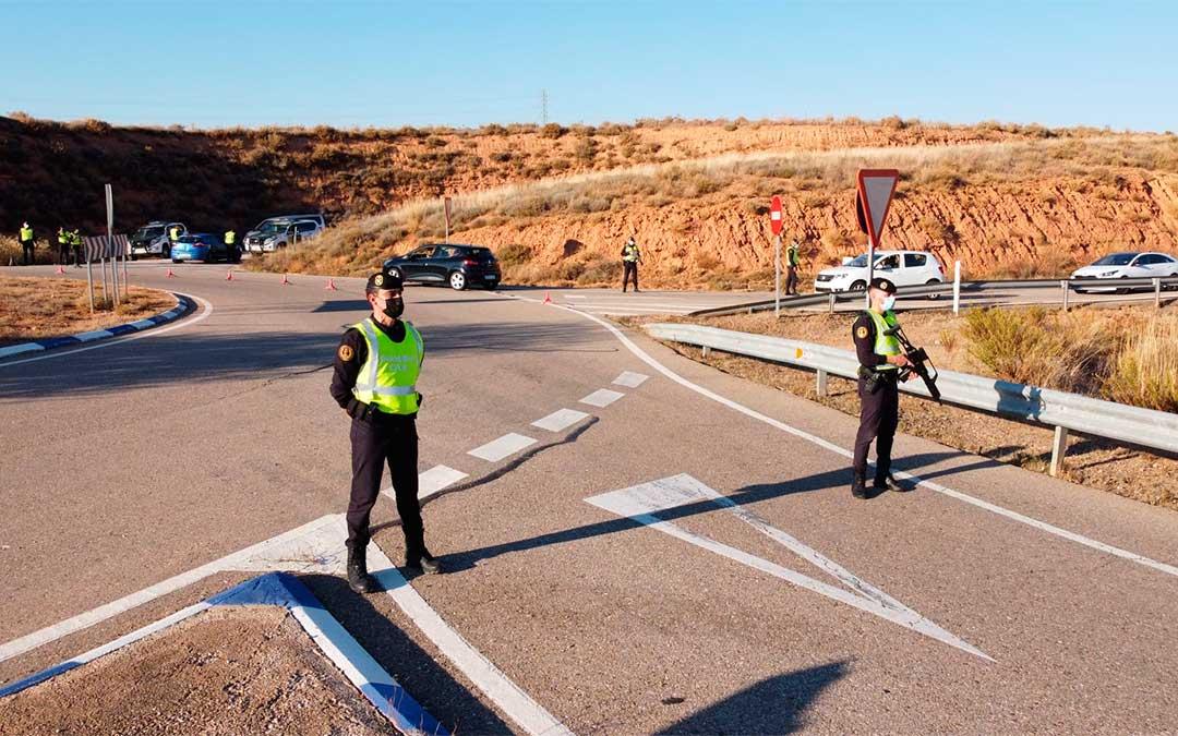 La Guardia Civil intensifica los controles en zonas de mayor afluencia para que se cumpla con la normativa./ Guardia Civil de Zaragoza