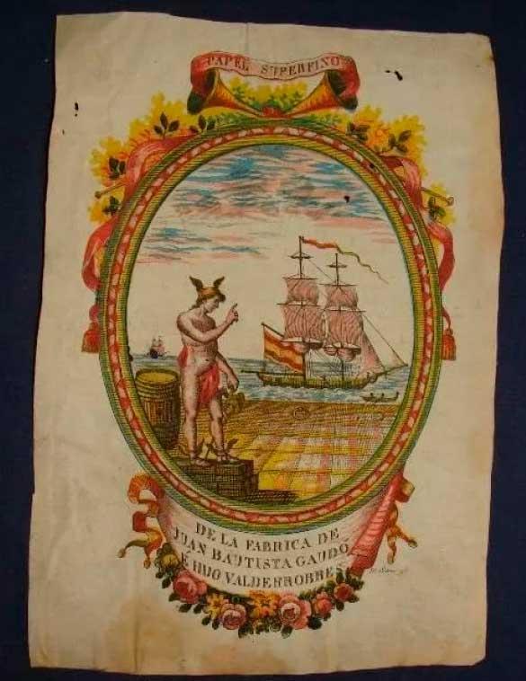 Ilustración utilizada con fines publicitarios por la marca 'Gaudo e Hijo', cuyo papel utilizó Francisco de Goya para confeccionar su Álbum C entre 1814 y 1823./ Luis Latorre