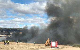 Extinguido un incendio en la escombrera de Mas de las Matas