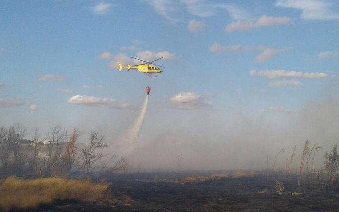 Una quema agrícola descontrolada calcina 5 hectáreas en Híjar