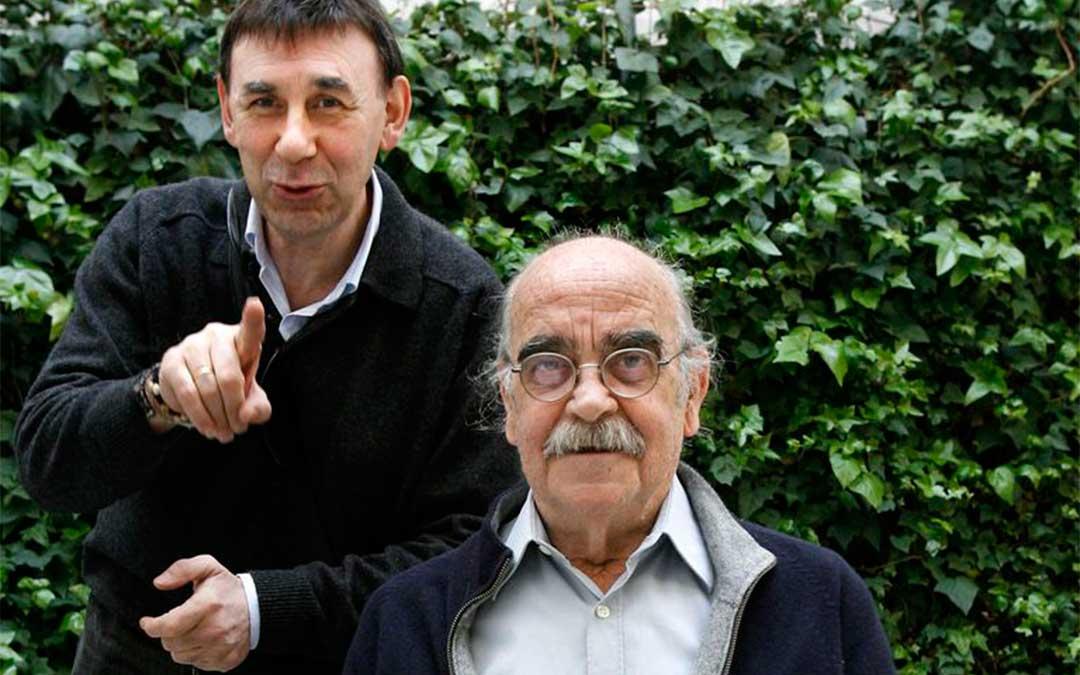 Joaquín Carbonell y José Antonio Labordeta./ DPT