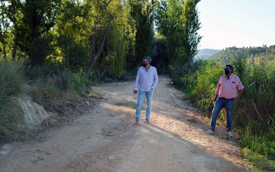 El concejal de deportes del Ayuntamiento de Alcañiz Kiko Lahoz en La Badina