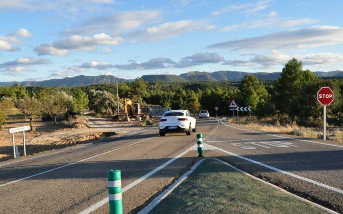 El Gobierno de Aragón inicia las obras de reforma de la intersección Sur de La Fresneda
