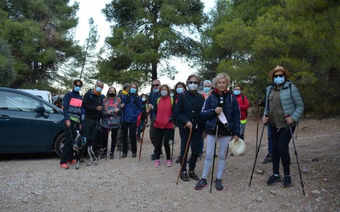 70 personas disfrutan de la primera marcha senderista en el Matarraña tras el confinamiento