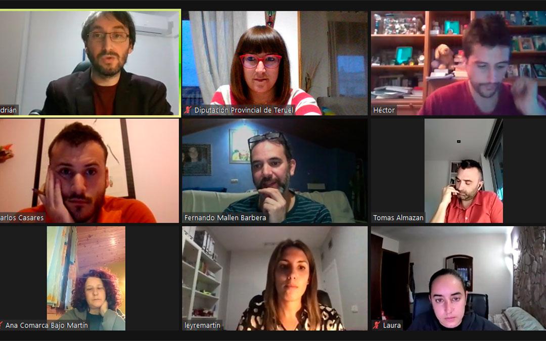 Imagen de la reunión telemática de la nueva mesa técnica de Juventud./ DPT
