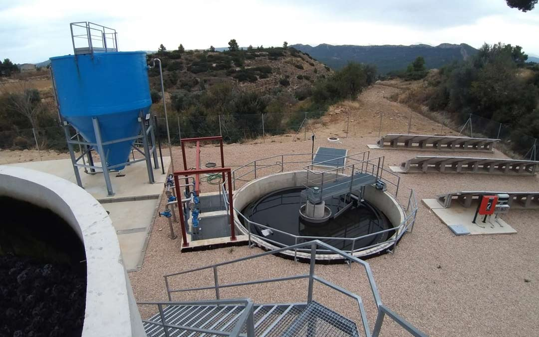 La nueva planta depuradora de aguas residuales en Castellote./R.M.
