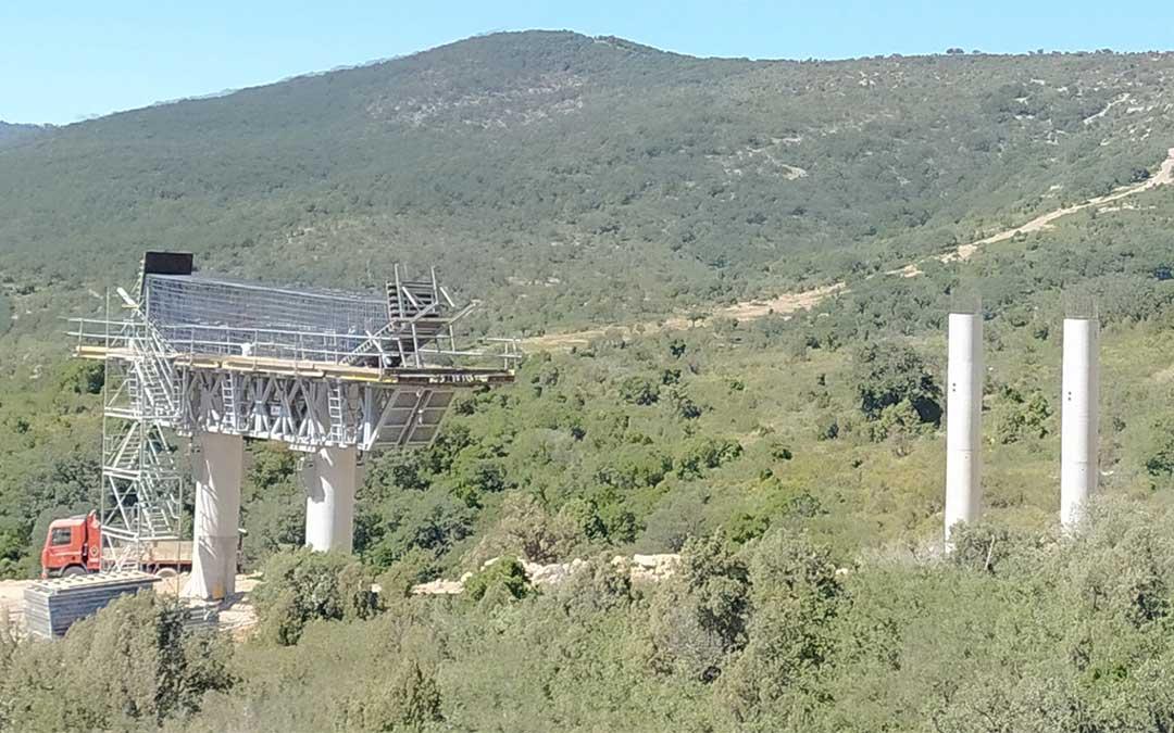 Obras de la N-232 en ejecución./ Ayuntamiento de Morella