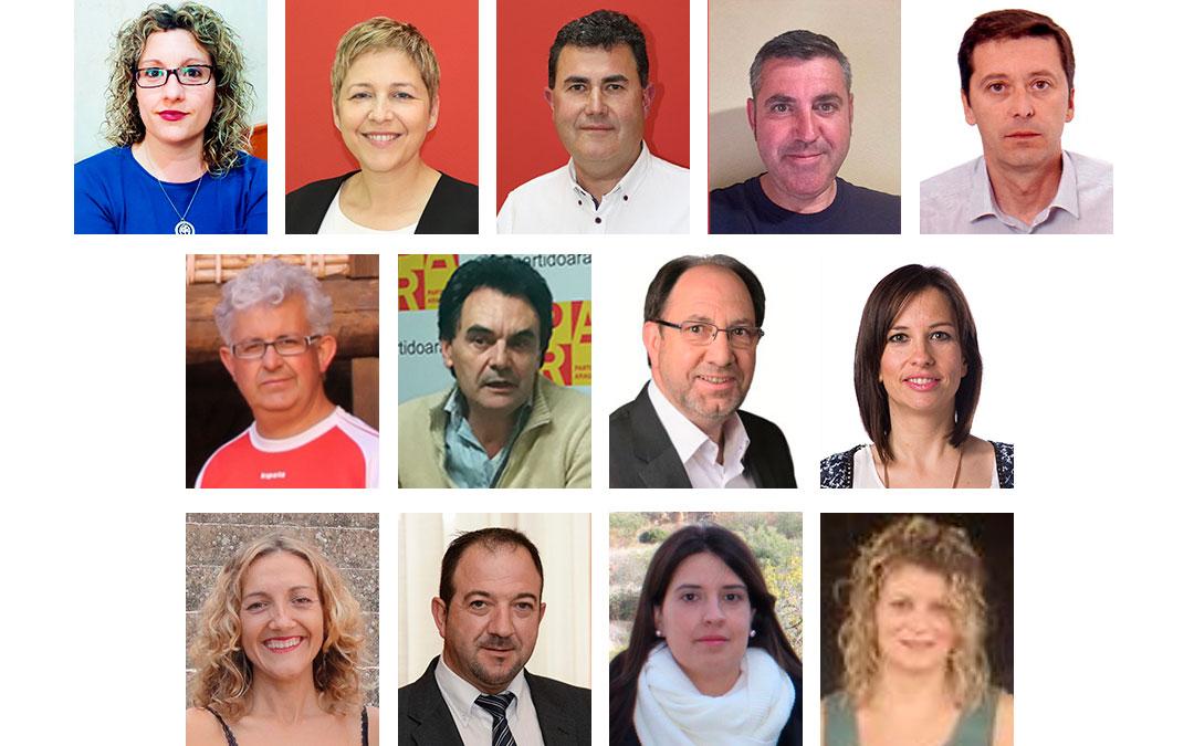 13 de los 15 portavoces de la gestora provincial del PAR creada hace un mes sin el visto bueno de la dirección del partido./ L.C.