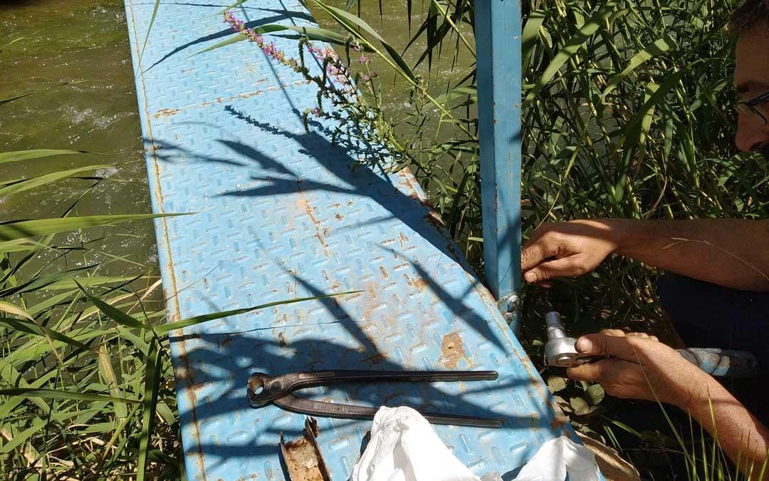 Arreglo de la pasarela sobre los Estrechos. / Parque Cultural Río Martín