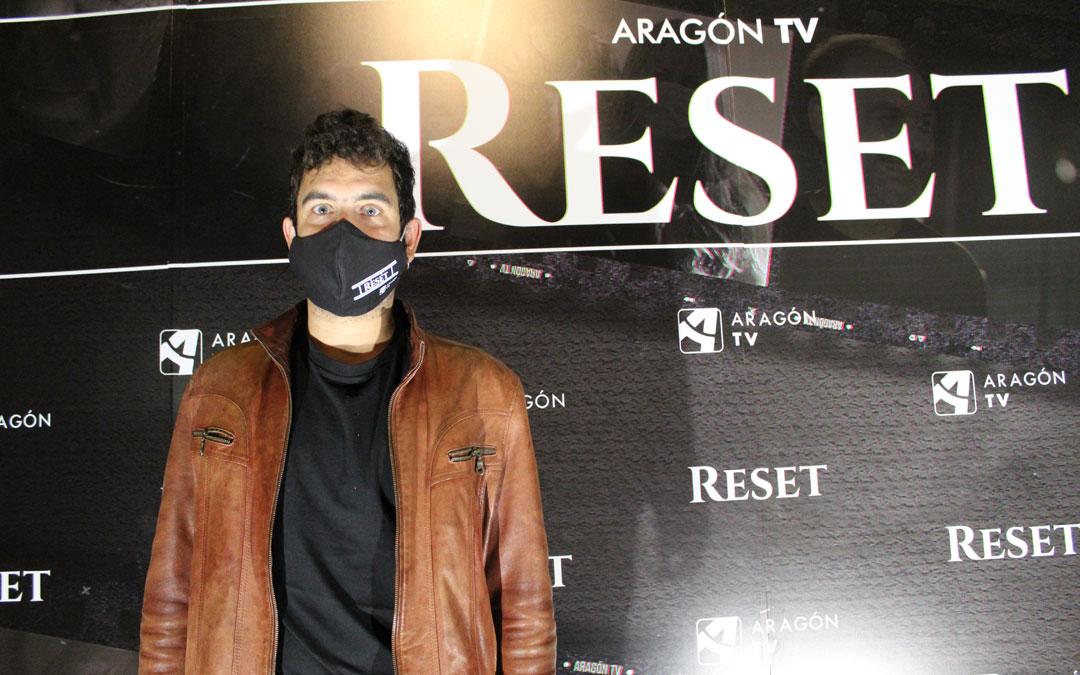 Javier Macipe, en el preestreno de 'Reset', película en la que participa con 'La tierra'. / B. Severino