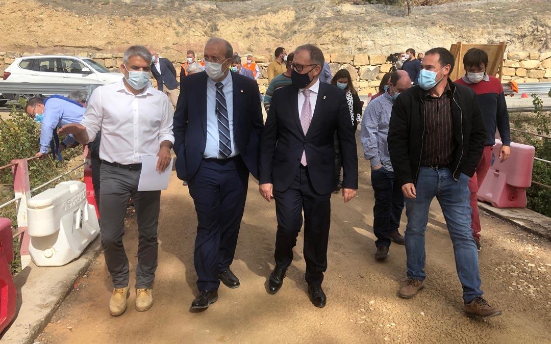Rando ha vistado las obras de la carretera CV-120, entre La Mata de Morella y Olocau del Rey