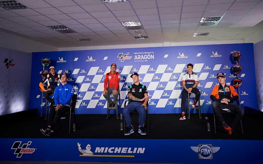Varios pilotos han participado durante la tarde del jueves en la rueda de prensa desde Motorland.