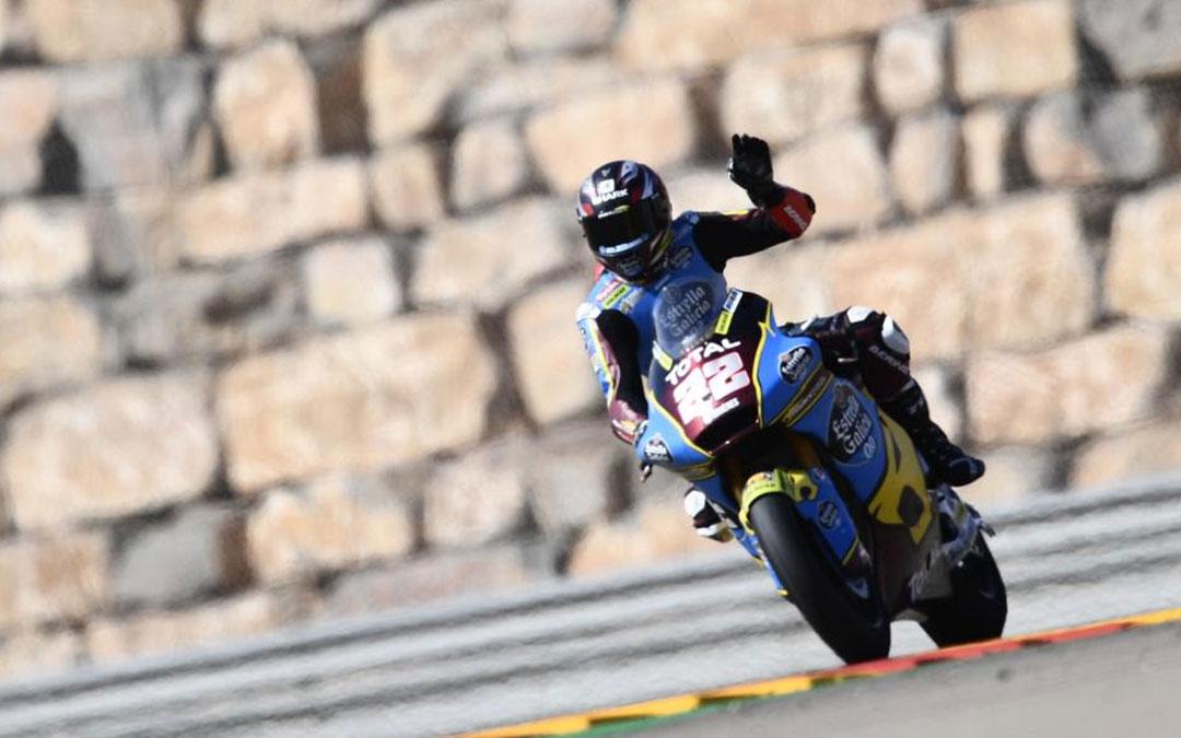 El piloto Sam Lowes no abandonó la primera posición en Motorland, desde donde partía desde la pole este domingo./ Motorland Aragón
