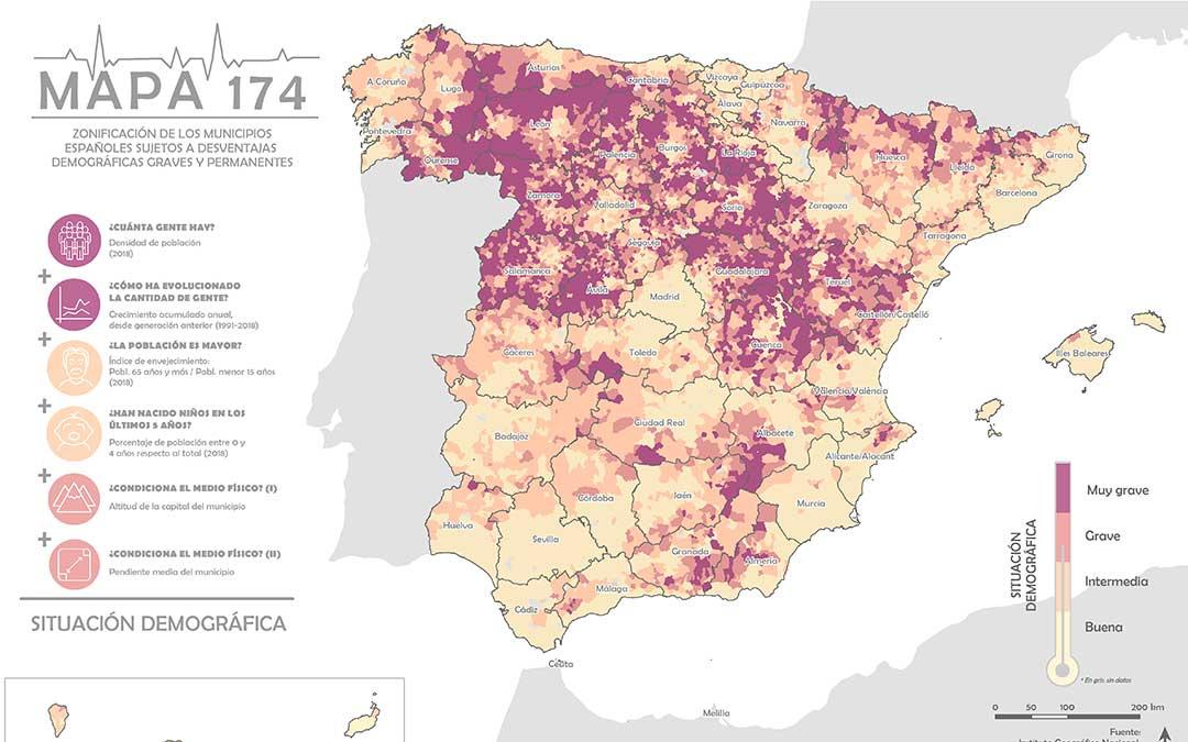 SSPA. Mapa 174 de España.