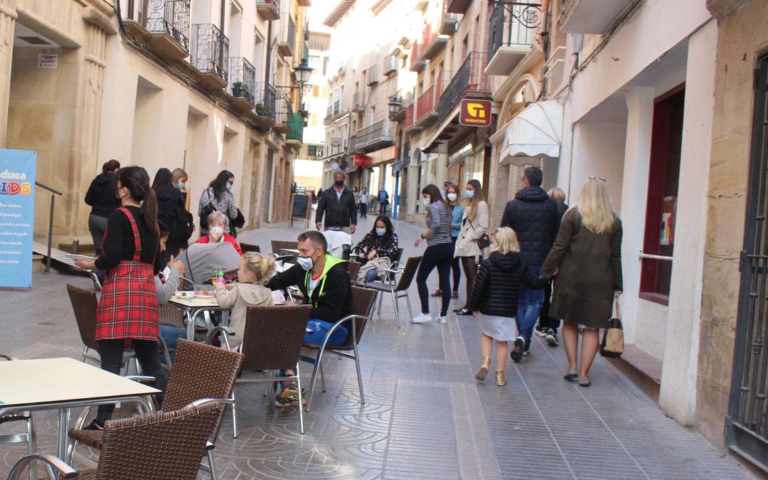 Terraza del centro de Alcañiz este fin de semana