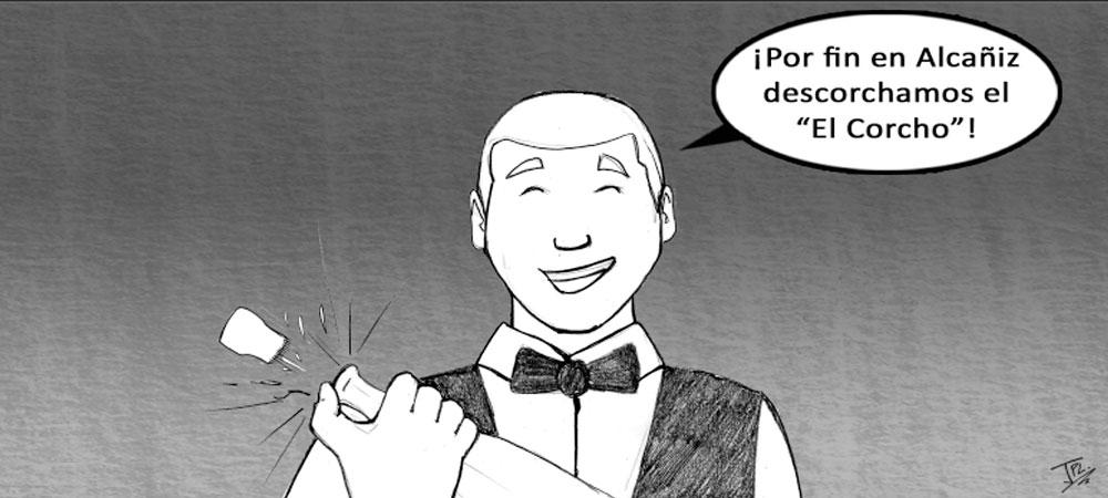 humor gráfico - apertura Corcho Alcañiz