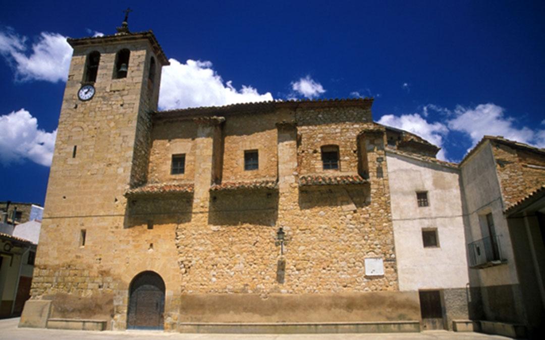 Iglesia de San Bernardo, en la localidad de Torre de Arcas, en la Comarca del Matarraña./ DGA-SIPCA