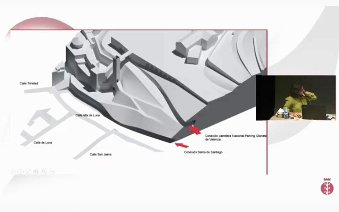 Imagen del Consejo de Ciudad para dar a conocer el proyecto del vial de Pui Pinos