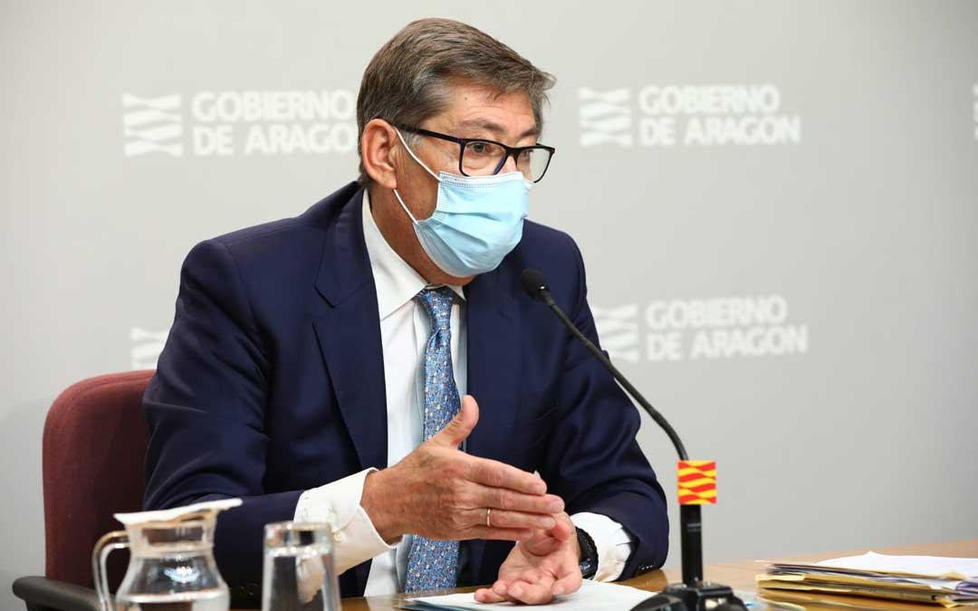 Arturo Aliaga, este viernes, en rueda de prensa / DGA