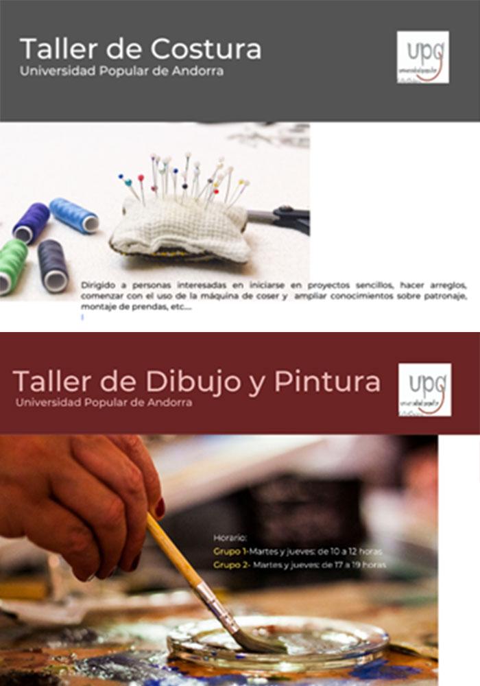 Oferta formativa Universidad Popular de Andorra