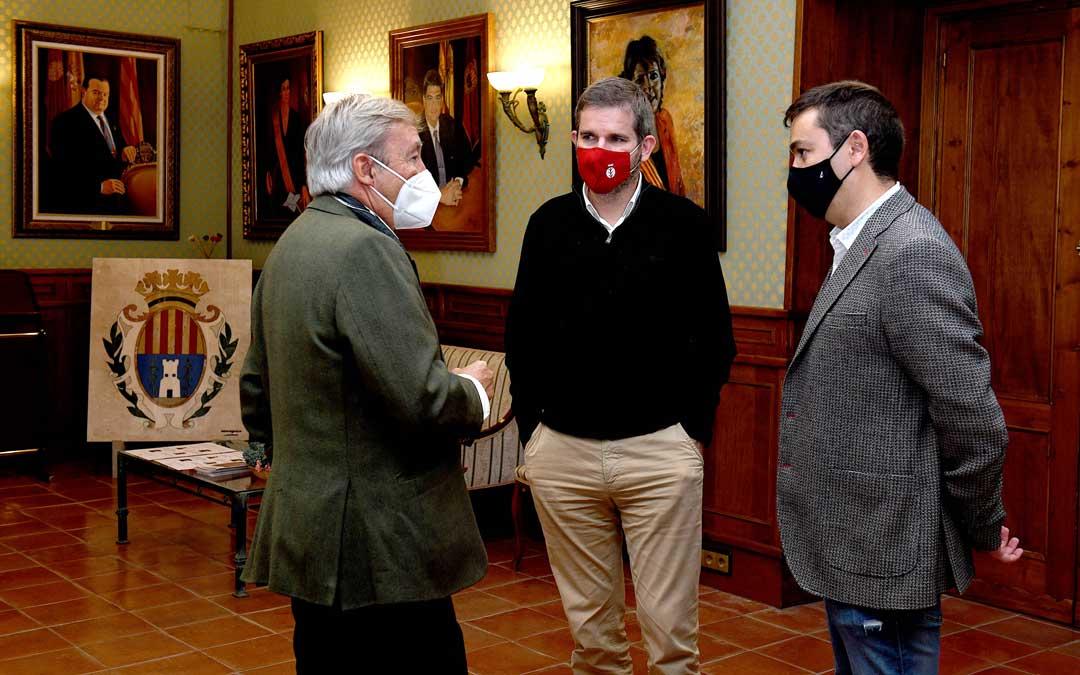 Firma del convenio entre el Ayuntamiento de Alcañiz y Enefgy para reforestación