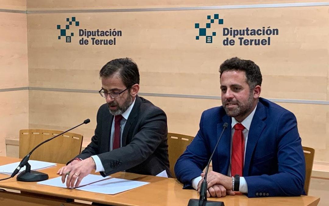 Carlos Boné en una rueda de prensa en Teruel. Foto de archivo