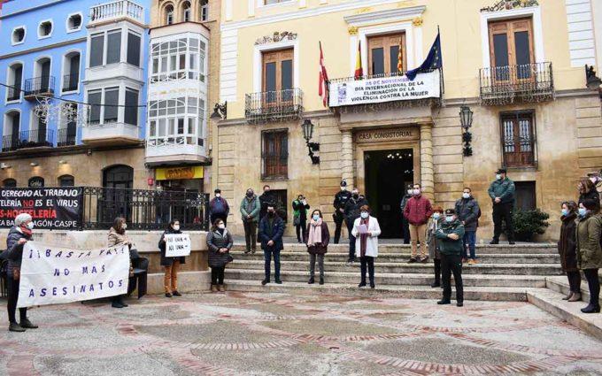 El Bajo Aragón Histórico se solidariza con las víctimas de la violencia de género y clama por su erradicación