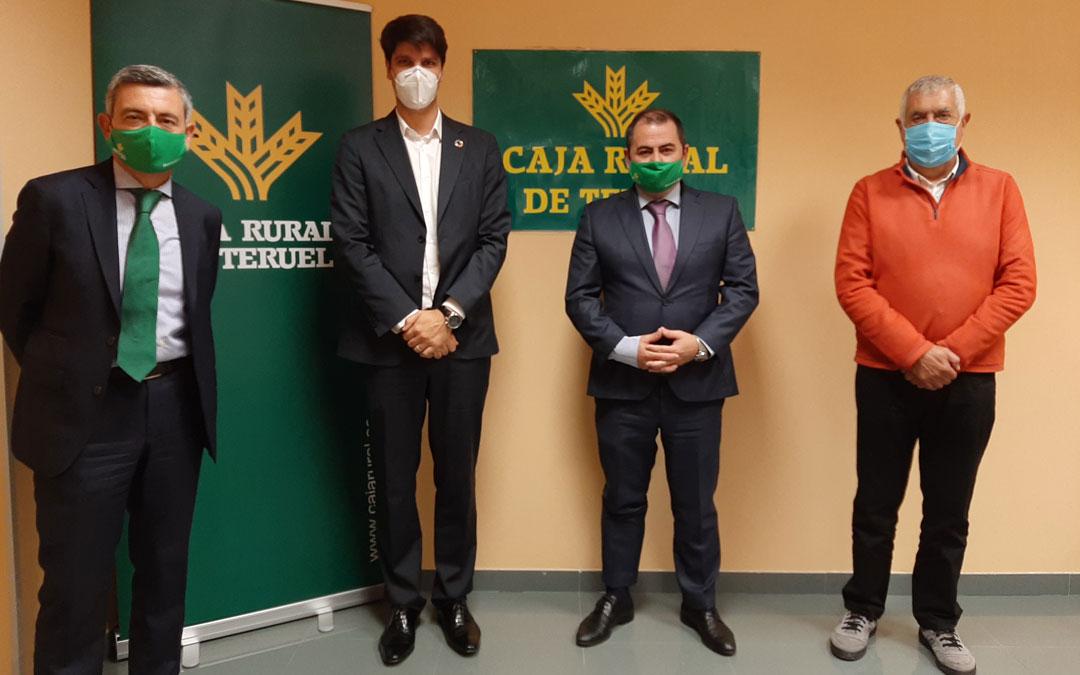 Ángel Espinosa, Fermín Serrano, David Gutiérrez y Antonio Arrufat, el viernes en Alcañiz