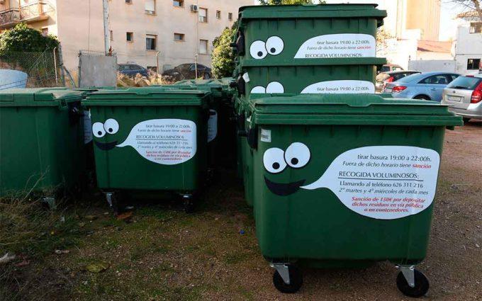 Nuevo horario para tirar la basura en los contendores de Alcañiz
