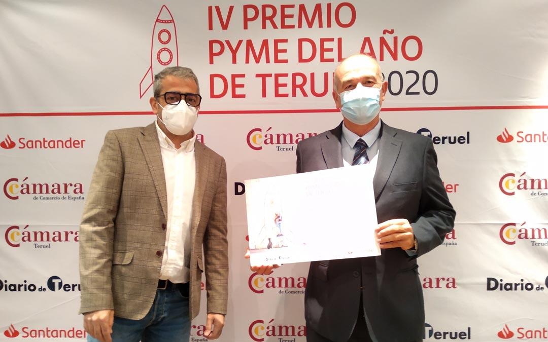 Contratas Ancar S.L, ha recibido el Accésit a la Formación y el Empleo./Cámara de Comercio de Teruel
