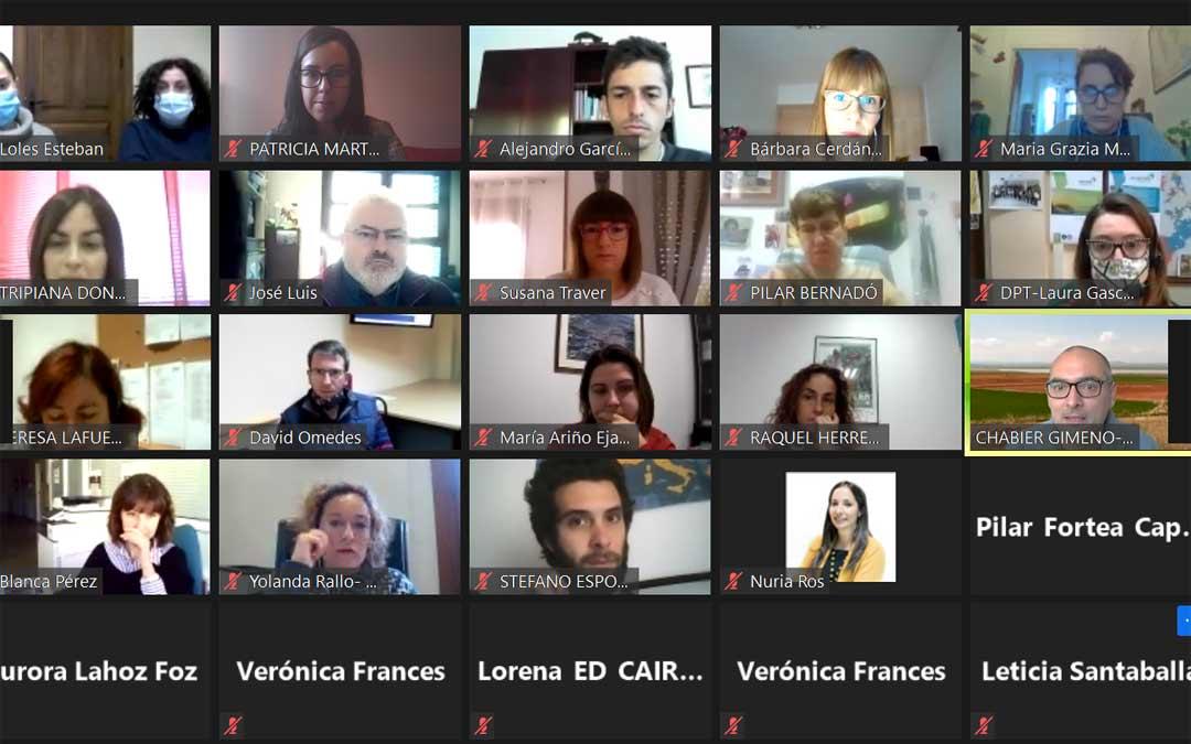 Participantes en la jornada telemática del Proyecto MAX./Diputación de Teruel