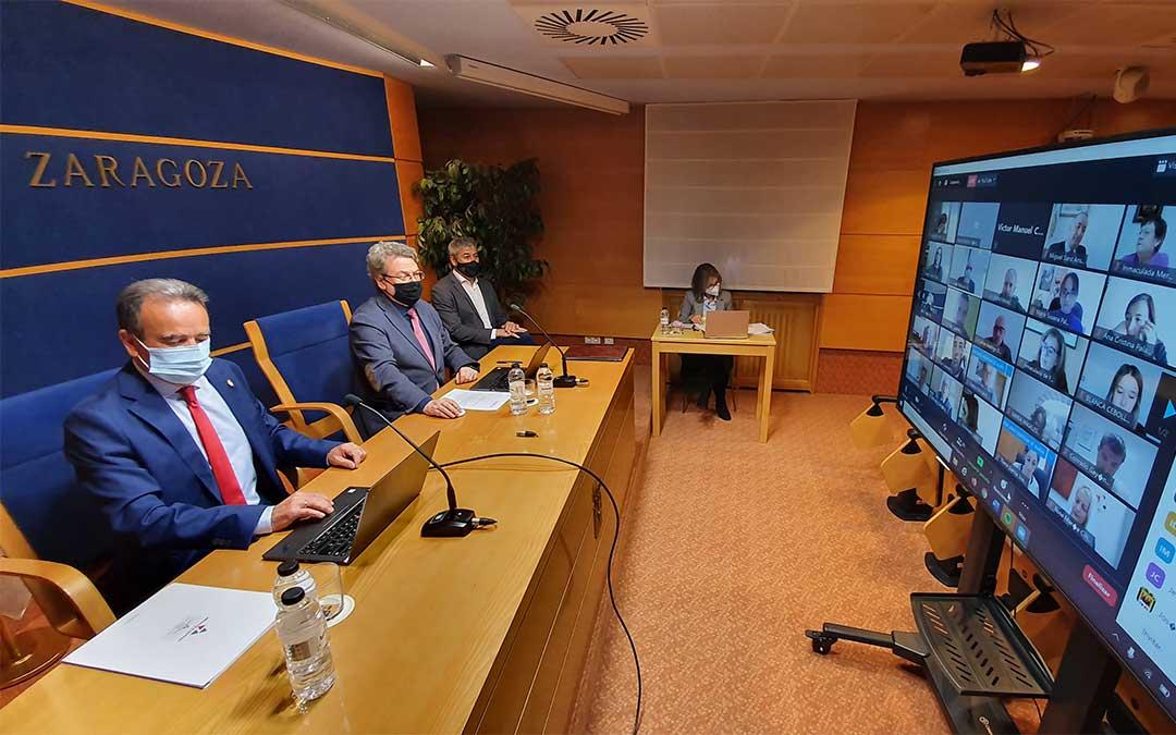 Pleno extraordinario de la DPZ celebrado de manera telemática./ DPZ