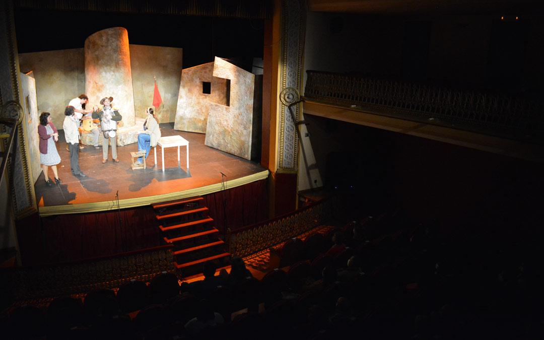 'Don Quijote somos todos', obra representada por e Teatro del Temple en Alcañiz./I.M.