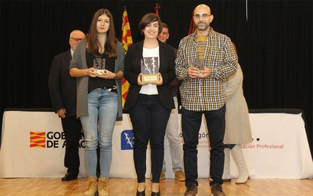 Los premios de 2019 se quedaron en Alcañiz, con Silvia Palacios como primer puesto, y en Huesca los dos accésit. / DGA.