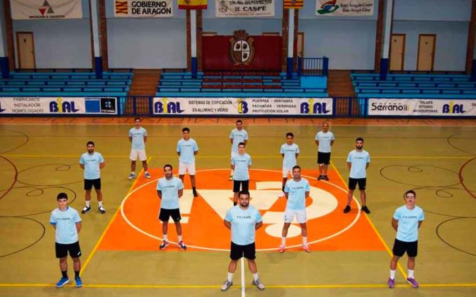 El primer equipo del FS Caspe jugará este sábado por primera vez en Zaragoza
