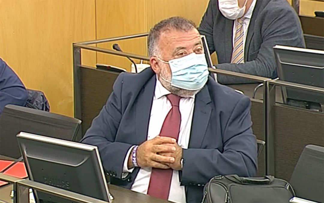 Captura de la intervención de Herminio Sancho en el servicio de televisión del Congreso./ PSOE Teruel