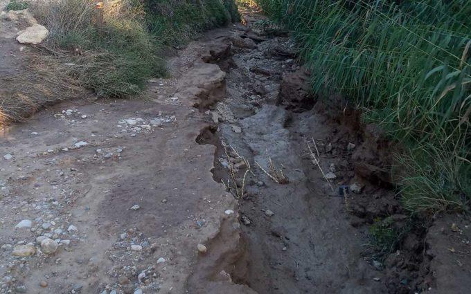 Híjar eleva su queja a la CHE por los daños del desembalse de Cueva Foradada