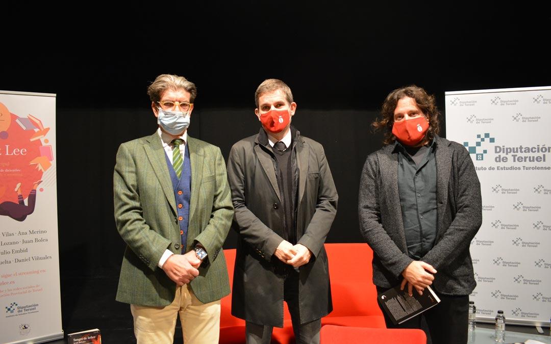 Juan Bolea, junto a Ignacio Urquizu y Jorge Abril./I.M.