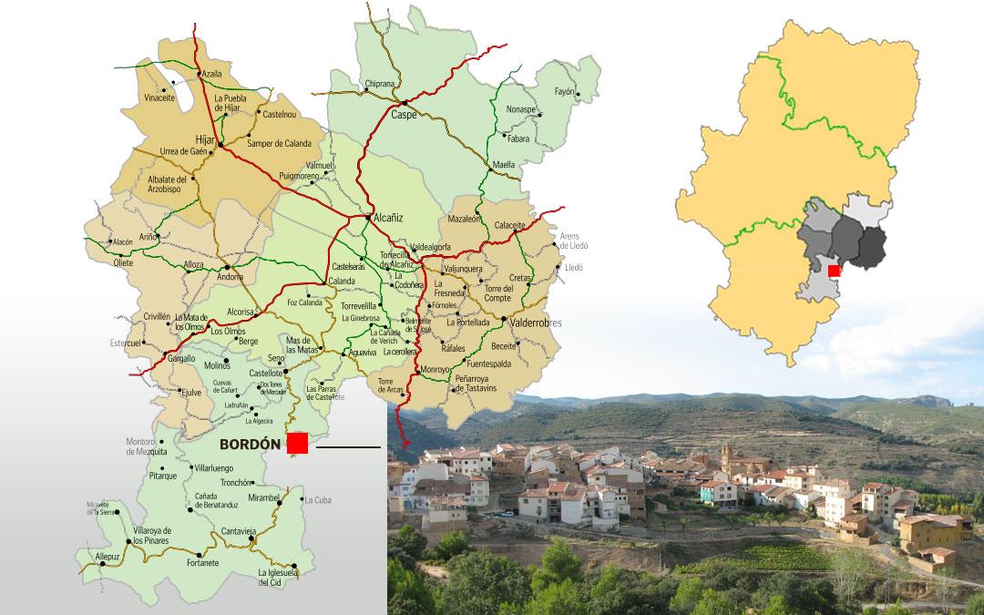 Bordón está situado en la Comarca del Maestrazgo./ L.C.