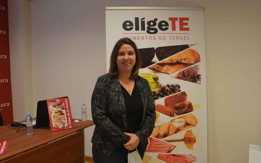 La diputada María Ariño este jueves durante la presentación de la campaña