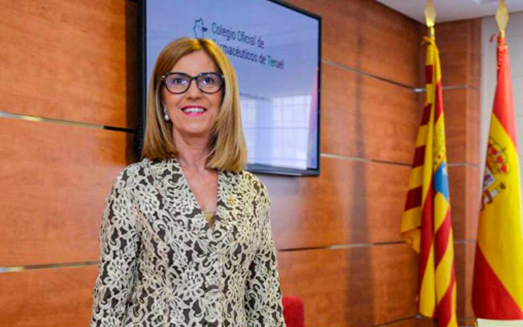 María José Villafranca, presidenta del Colegio de Farmacéuticos de Teruel./ L.C.