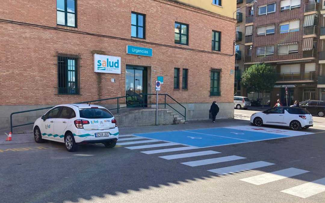 Mejoras realizadas en el entorno del centro de salud de Caspe