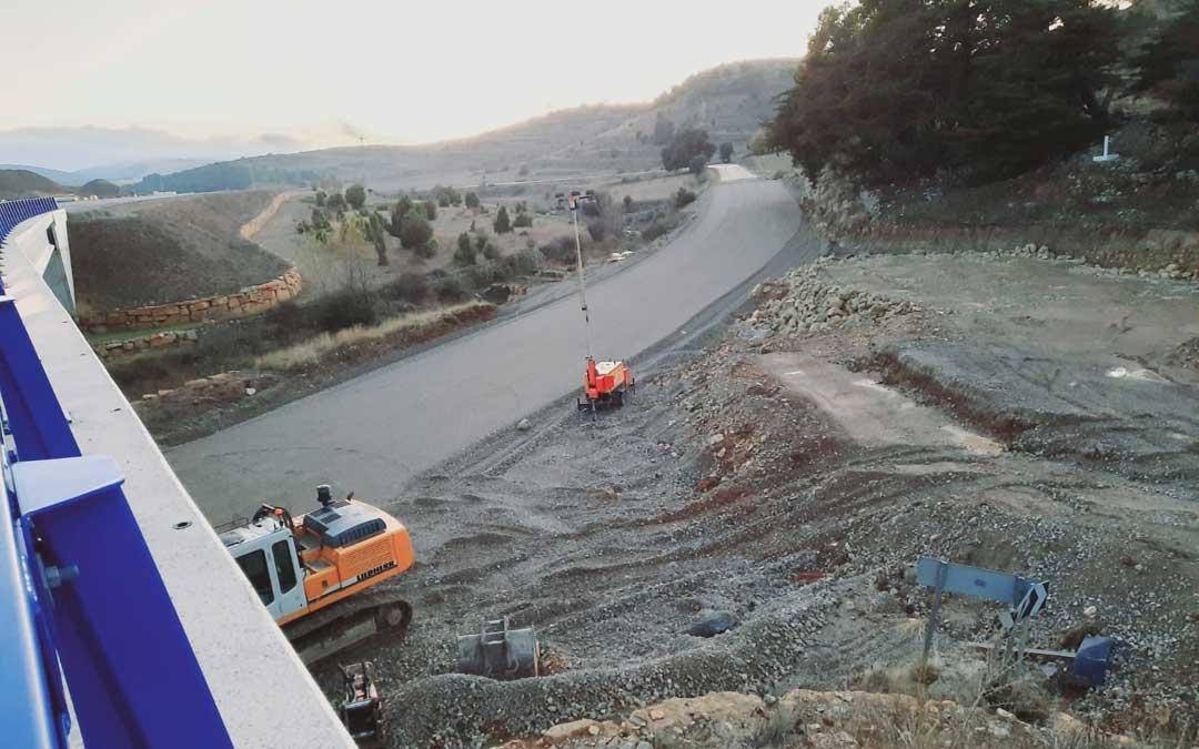 El avance en las obras permitirá reabrir al tráfico la vía. FOTO: Ayuntamiento Morella.