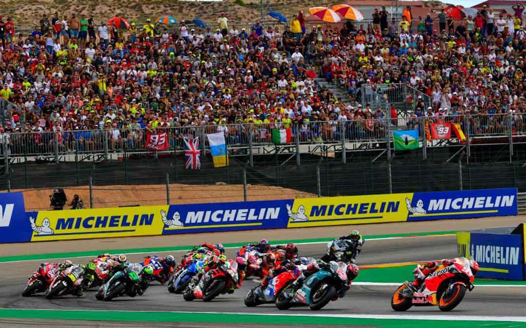 La pelouse de Motorland Aragón en el Gran Premio del pasado año